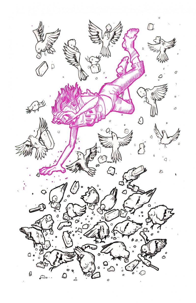 Litho Edition 21-05-05 GirlFly-Pigeons