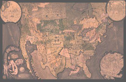 MAP of North Amerika _SEPIA~I've Got a Time Bomb // 2018 Print Shop